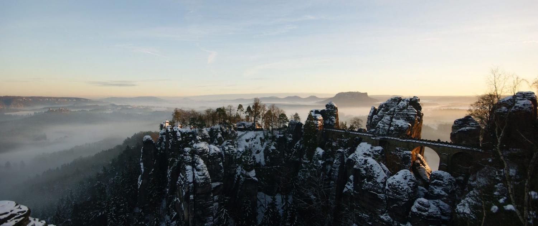 Landschaft der Sächsischen Schweiz