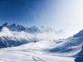 Winterlandschaft mit Bergen