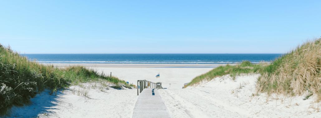 Zugang zum Strand auf der Nordsee-Insel Juist