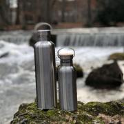 Edle Trinkflaschen aus Edelstahl